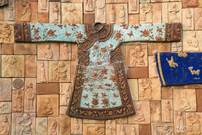 Download Antyczna chińska moda obraz stock. Obraz złożonej z charakter - 9258177