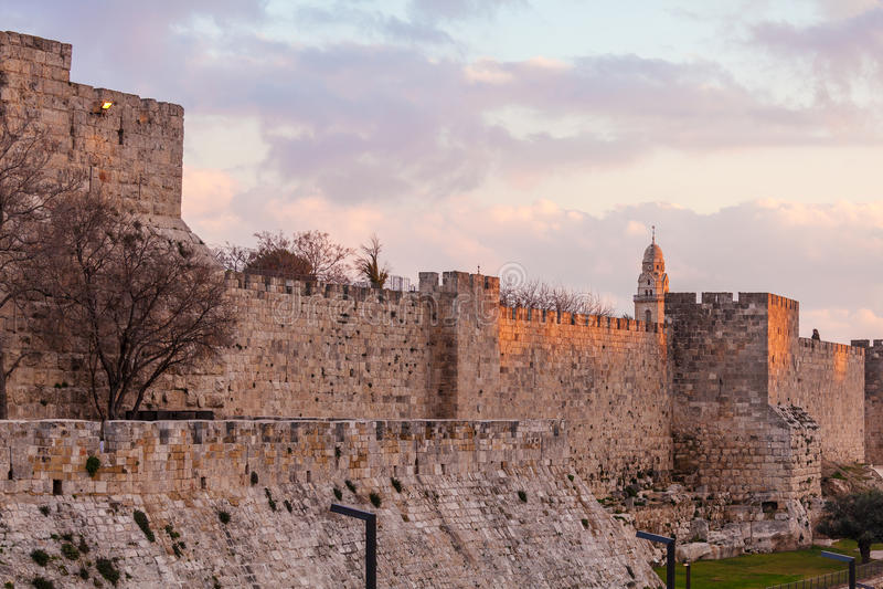 Antyczna cytadela wśrodku Starego miasta, Jerozolima obrazy royalty free