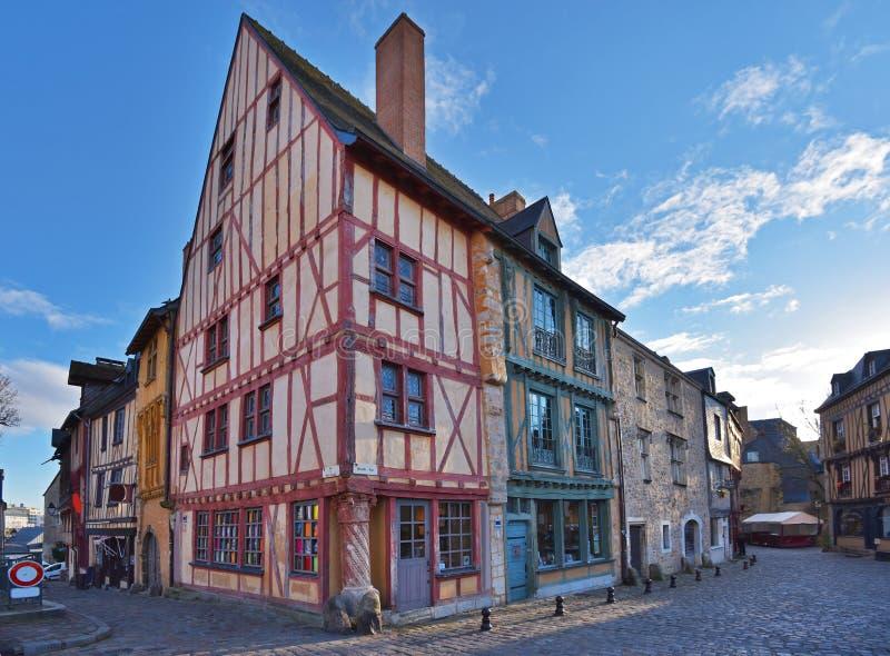 Antyczna część Francuski miasto Le Mans obraz royalty free