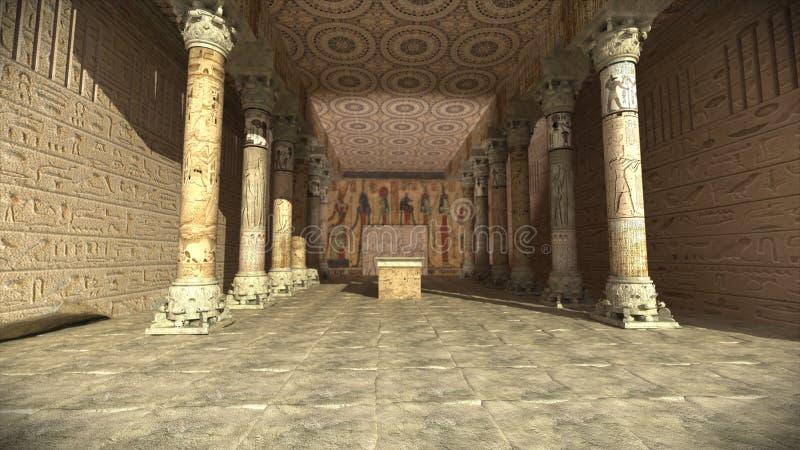 antyczna egipska świątynia zdjęcia royalty free