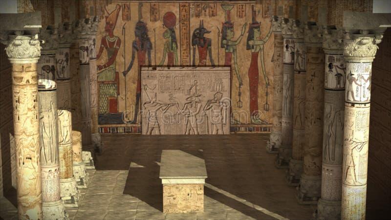 antyczna egipska świątynia fotografia royalty free