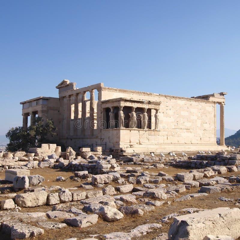 antyczna erechtheion grka świątynia fotografia stock