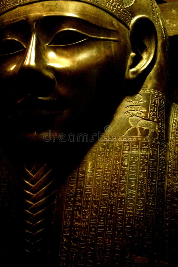 Antyczna Eygptain mamusi maska zdjęcie royalty free