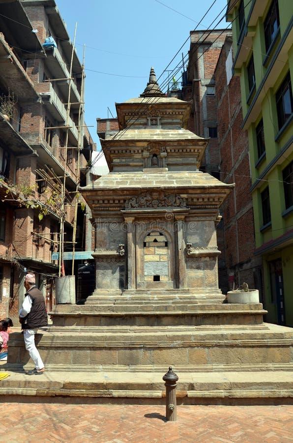 Antyczna hinduska świątynia w Nepal fotografia royalty free
