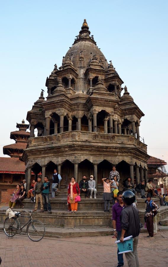 Antyczna hinduska świątynia w Patan zdjęcie stock