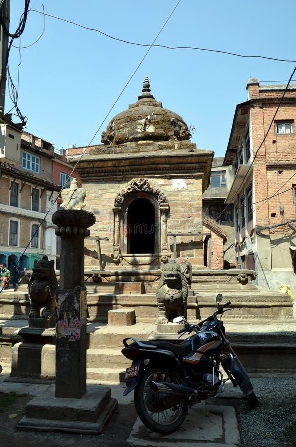 Antyczna hinduska świątynia w Patan obraz stock