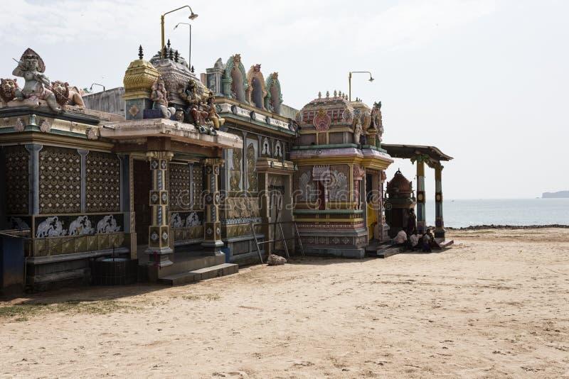 Antyczna hinduska świątynia w Trincomalee obraz stock