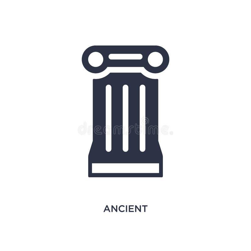 antyczna ikona na białym tle Prosta element ilustracja od historii pojęcia ilustracja wektor