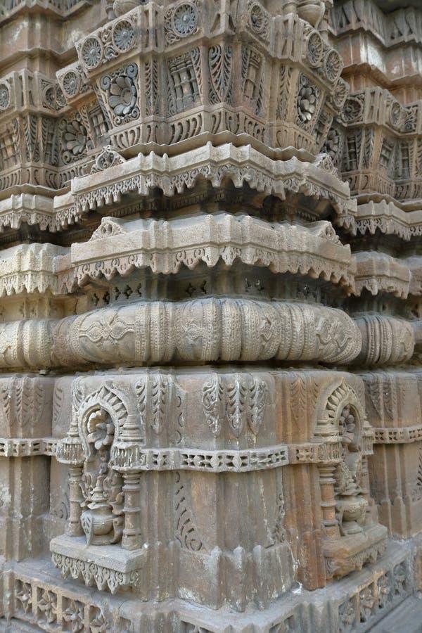 Antyczna islamska architektura, jama masjid, Ahmedabad, gujrat, India obrazy stock