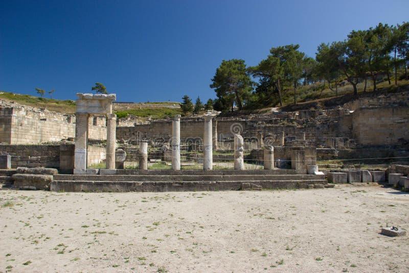 Antyczna Kamiros Rhodos Grecja architektura historyczna zdjęcia stock