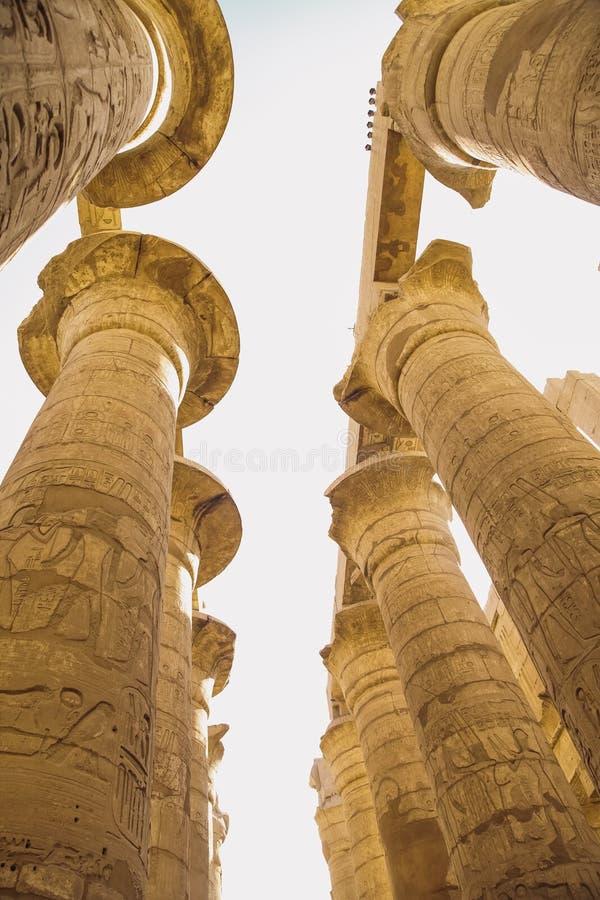 Antyczna Karnak świątynia w Luxor obrazy stock