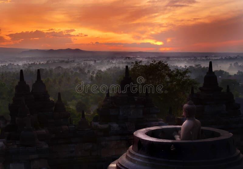 antyczna kedu wschód słońca dolina obrazy royalty free