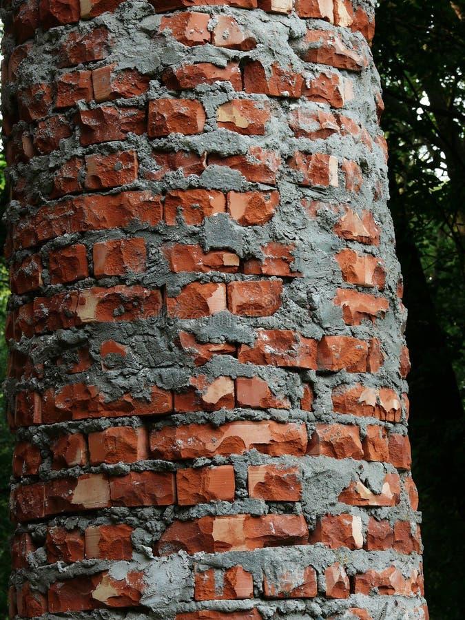 Antyczna kolumna od cegły zdjęcie stock