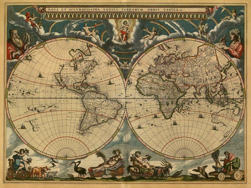 antyczna mapa obraz stock