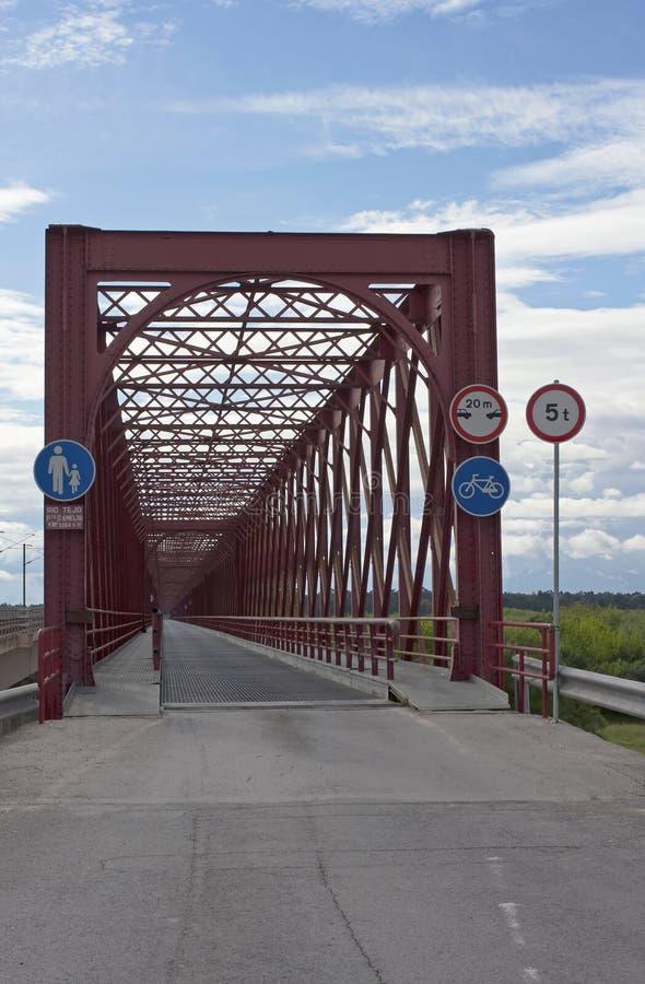 antyczna mosta żelaza czerwień zdjęcie royalty free