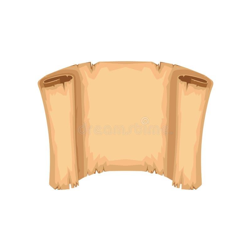Antyczna papierowa ślimacznica, rocznik pergaminowa wektorowa ilustracja na białym tle ilustracja wektor
