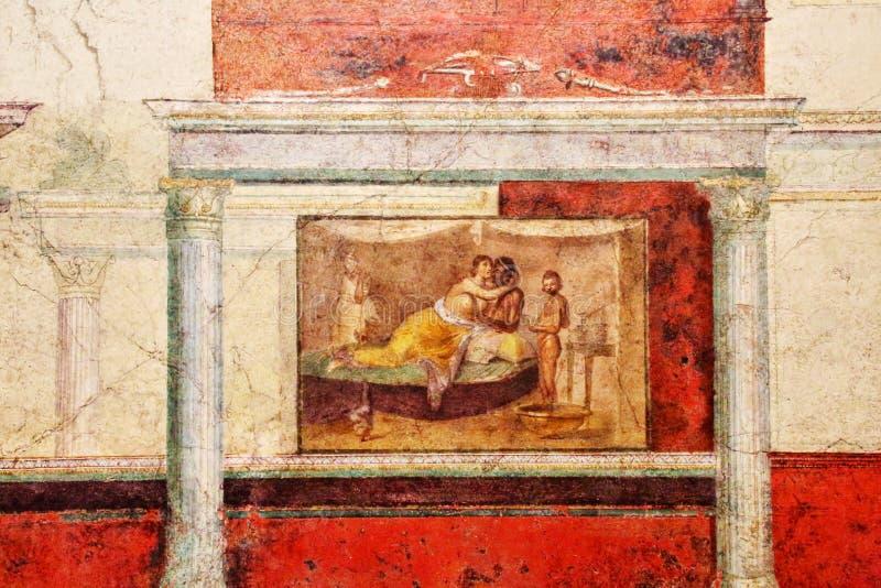 Antyczna rzymska mozaika w Krajowym Romańskim muzeum, rzymianin, Włochy royalty ilustracja