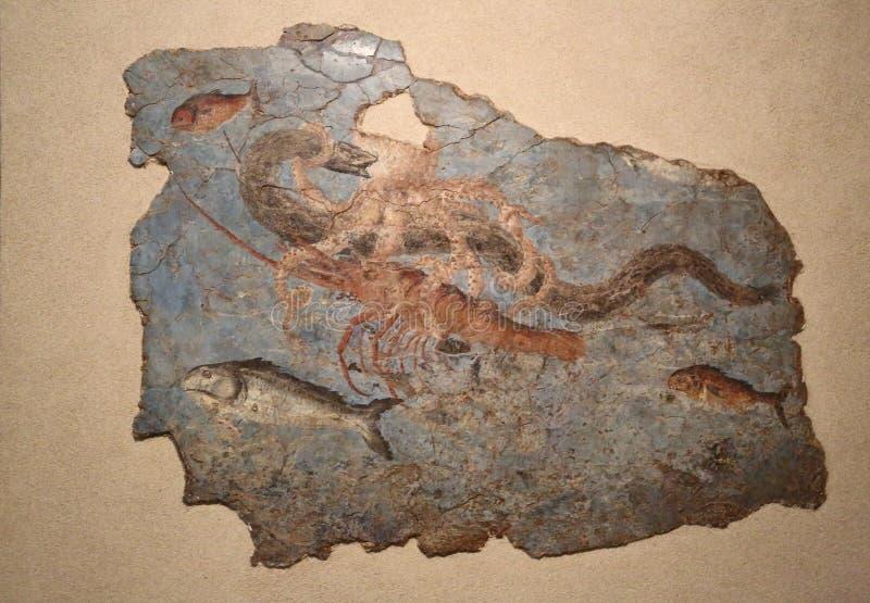 Antyczna rzymska mozaika w Krajowym Romańskim muzeum, rzymianin, Włochy ilustracja wektor