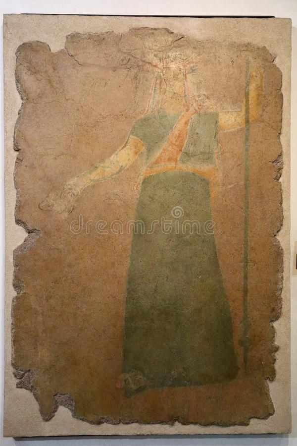 Antyczna rzymska mozaika w Krajowym Romańskim muzeum, rzymianin, Włochy ilustracji