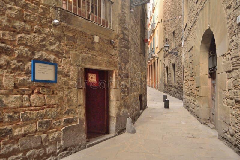 Antyczna synagoga Barcelona obrazy royalty free