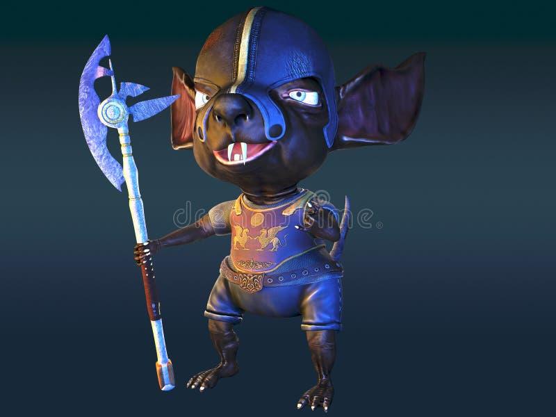 Antyczna szczura wojownika 3d ilustracja royalty ilustracja