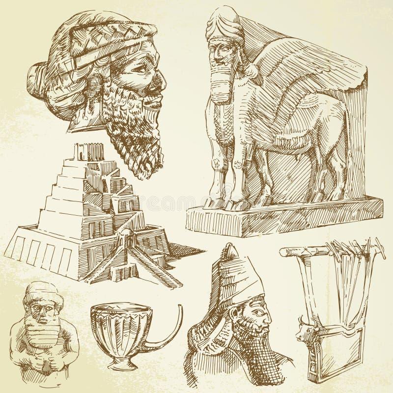 antyczna sztuka Mesopotamian ilustracja wektor