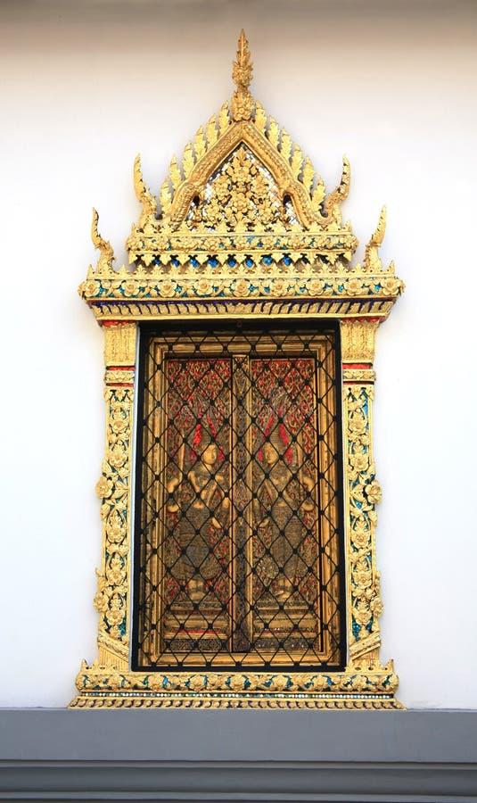 Antyczna Tajlandzka wzoru stylu ściana obraz royalty free
