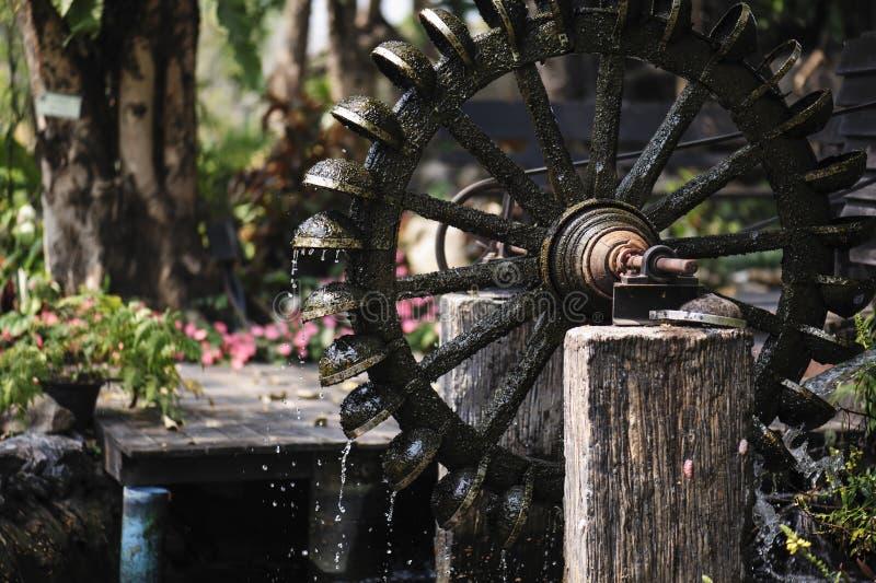 Antyczna turbinowa baler woda w parku obrazy royalty free