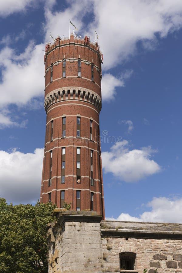 Antyczna wieża ciśnień w Kalmar w Szwecja obrazy royalty free