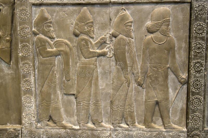 Antyczne ścienne grafika w British Museum zdjęcie stock