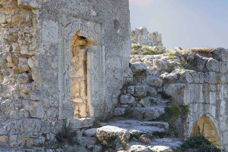Antyczne Żydowskie Orientalne forteca bramy z giloszują i David obraz royalty free