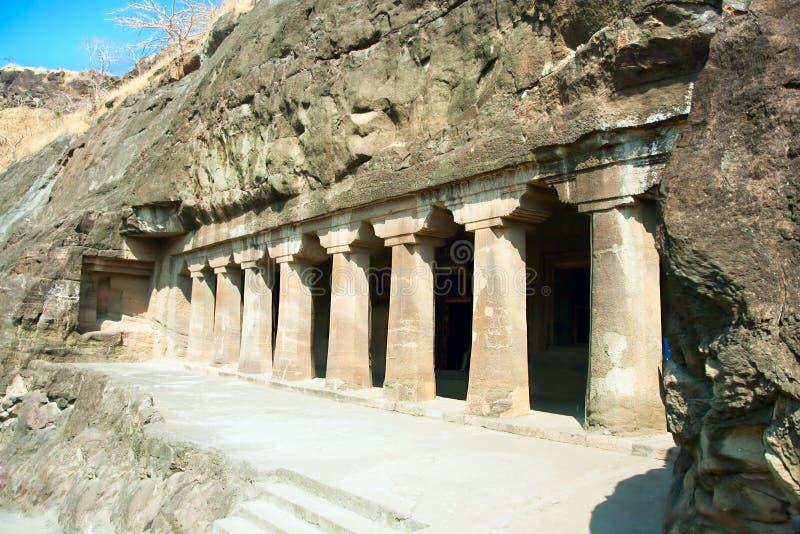Antyczne Buddysty Skały świątynie przy Ajanta zdjęcie royalty free