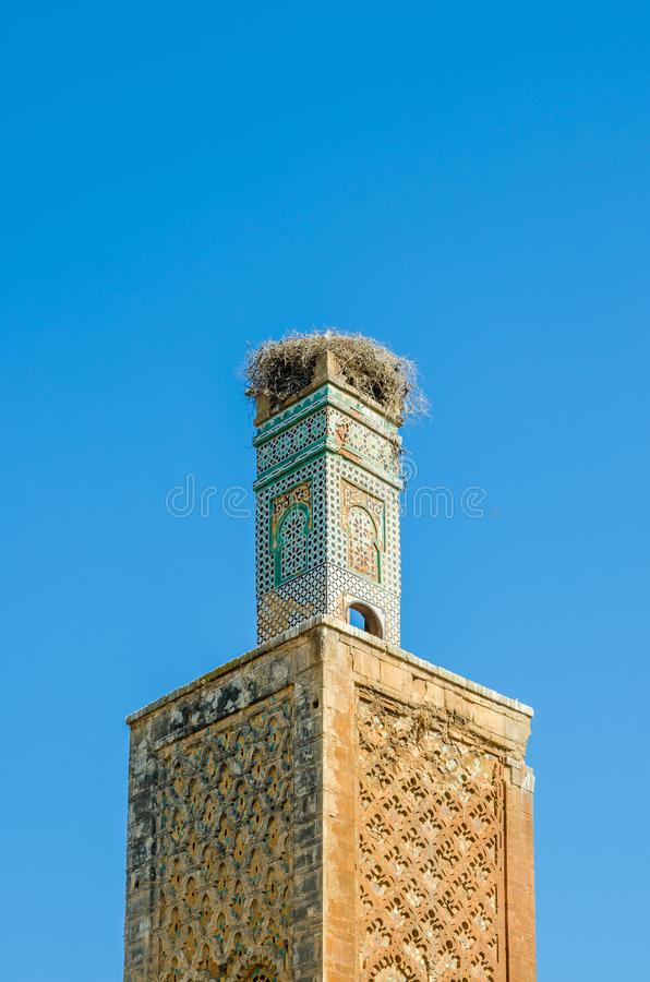 Antyczne Chellah Necropolis ruiny z meczetem i mauzoleumem w Maroko ` s kapitale Rabat, Maroko, afryka pólnocna zdjęcia stock