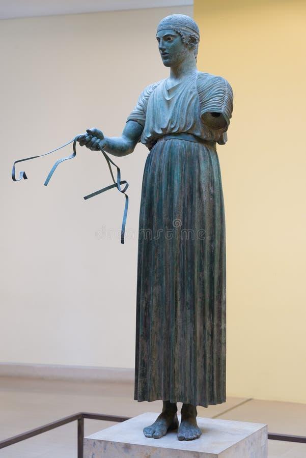 antyczne Delphi Greece muzeum ruiny fotografia royalty free