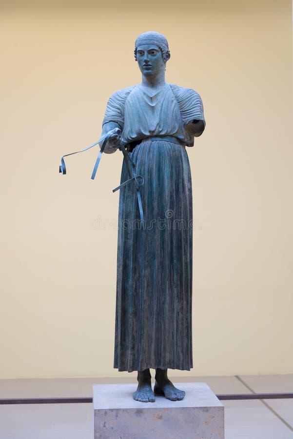 antyczne Delphi Greece muzeum ruiny obrazy stock