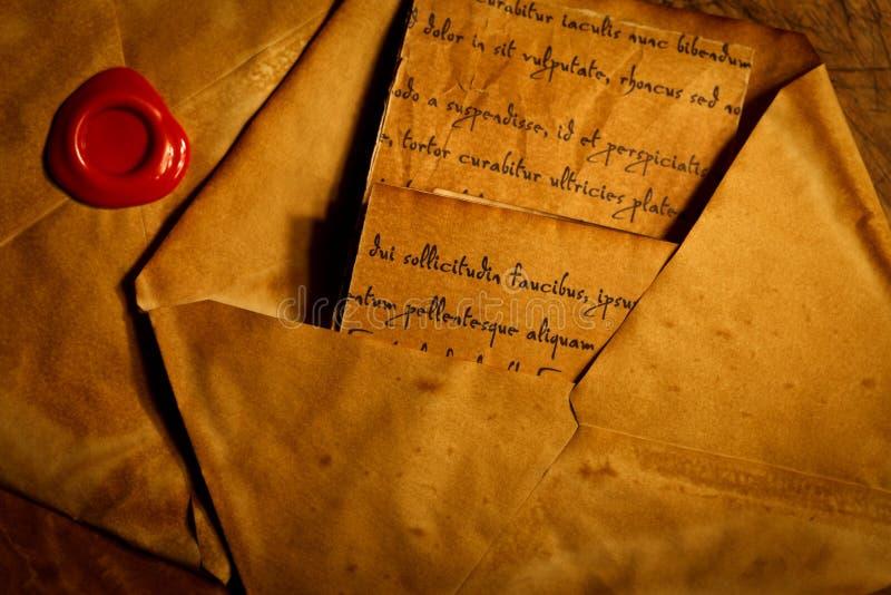 Antyczne koperty i listy zdjęcie royalty free