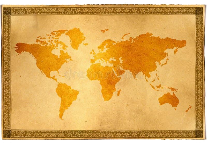 antyczne mapa świata ilustracji