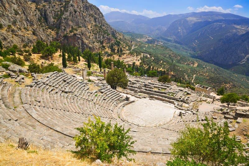 antyczne miasta Delphi Greece ruiny zdjęcia royalty free