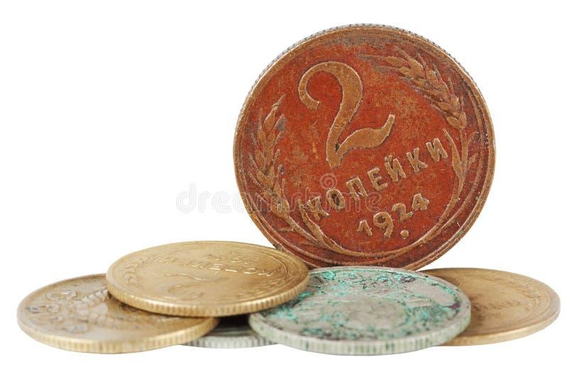 antyczne monety zdjęcia stock