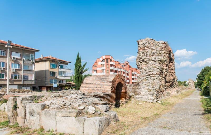 Antyczne Romańskie ściany Hisarya, Bułgaria obraz royalty free