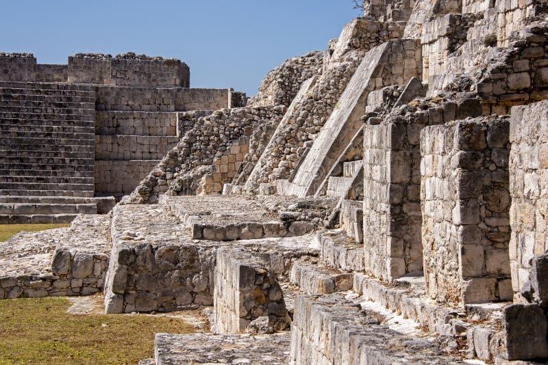Antyczne ruiny majowie cywilizacja zdjęcie royalty free