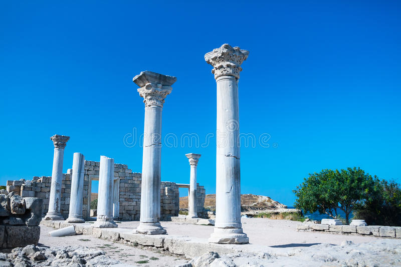 Antyczne ruiny Tauric Chersonese zdjęcie stock