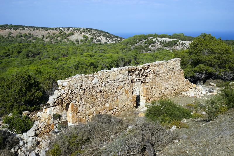 Antyczne ruiny w Akamas półwysepie fotografia stock