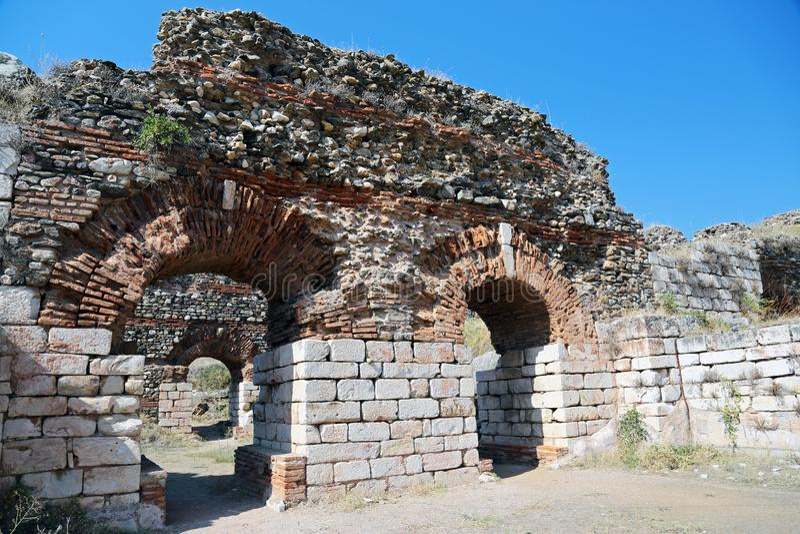 Antyczne ruiny w Sardes Turcja fotografia stock