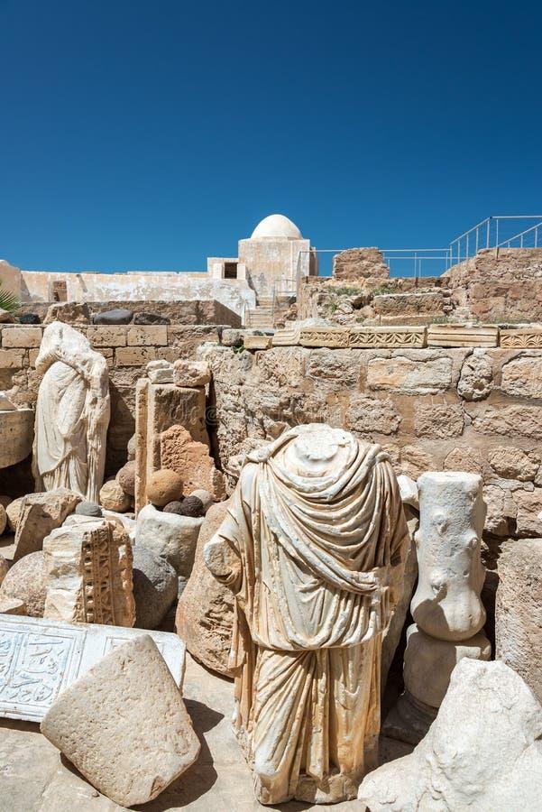 Antyczne rzeźby w Djerba, Tunezja obrazy royalty free