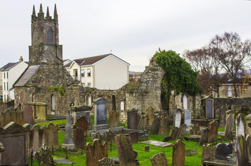 Antyczne Stare Priory ruiny w Holywood Północnym - Ireland zdjęcie stock