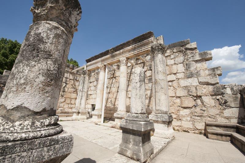 Antyczne synagoga ruiny zdjęcia royalty free