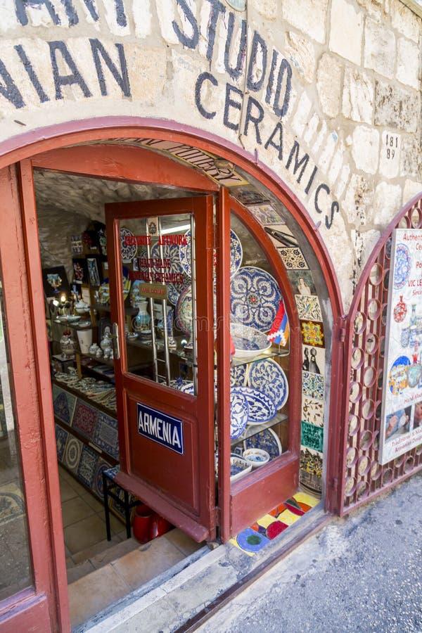 Antyczne ulicy i budynki w starym mieście Jerozolima fotografia royalty free