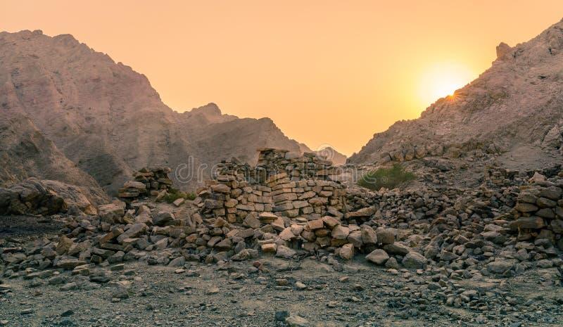 Antyczne wiosek ruiny zdjęcia royalty free
