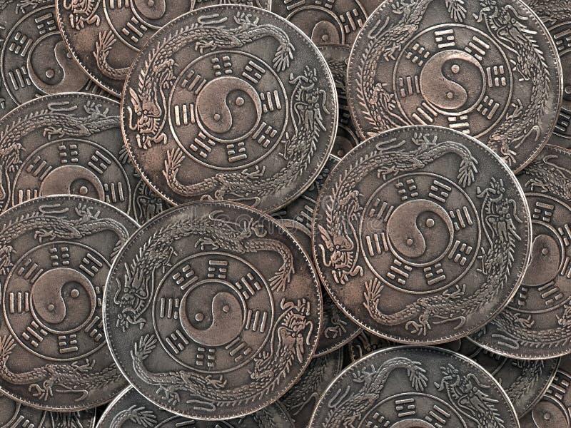 Antyczne Yang monety fotografia stock